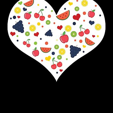 Fruit Heart Vegan Healthy Plants Vegetarian Novelty Shirt by allsortsmarket