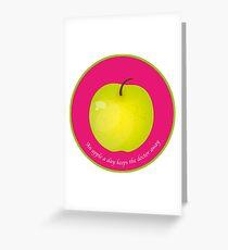 An apple a day keeps the Doctor away Carte de vœux