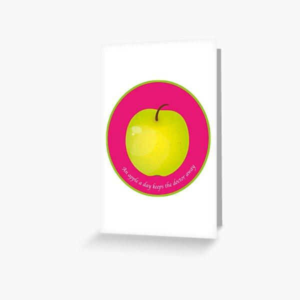 An apple a day keeps the Doctor away Carte de vœux