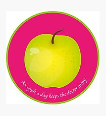 An apple a day keeps the Doctor away Impression photo