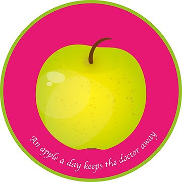 « An apple a day keeps the Doctor away » par RosaLeeDesign