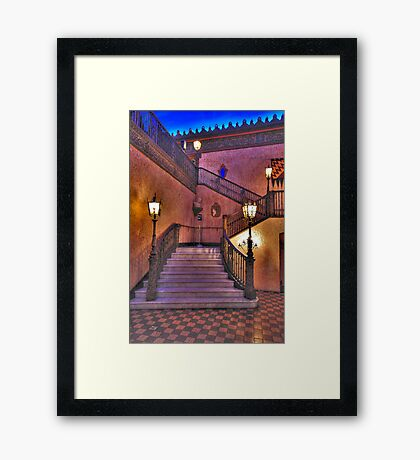 Stepping Out - The Capitol Theatre  - The HDR Experience Framed Print