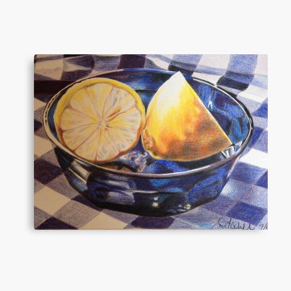 Lemons on Blue Canvas Print