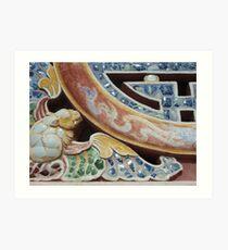 Mosaic, Vietnam Art Print