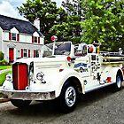 White Fire Truck by Susan Savad