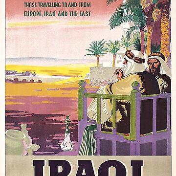Iraqi Railways Poster Art Deco by Goosekaid
