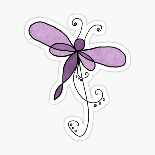 Filigree dragonfly Sticker