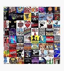 Musicals Collage leggings Photographic Print