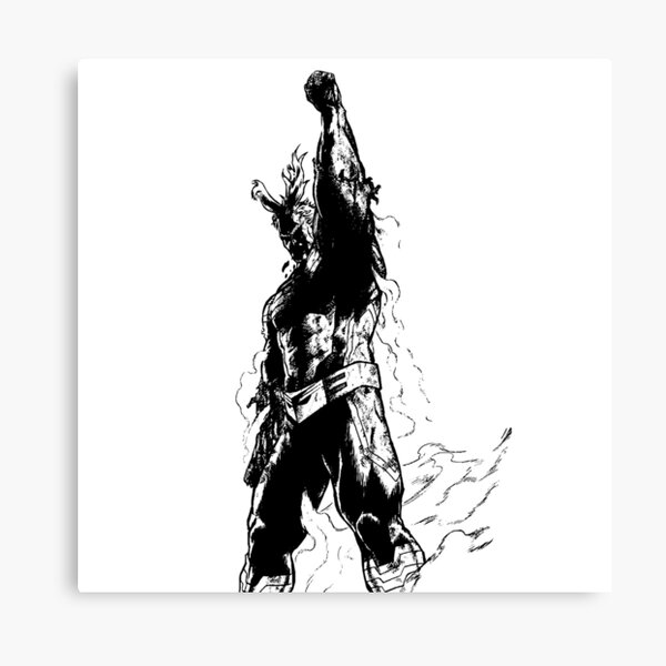 The Symbol of Peace - ALL MIGHT  Canvas Print
