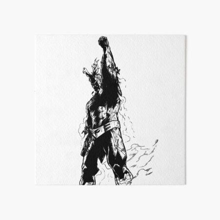 The Symbol of Peace - ALL MIGHT  Art Board Print