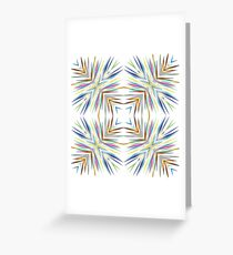 chromatic abstract explode seamless colorful repeat pattern Greeting Card
