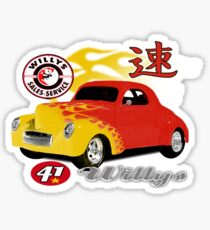 41 willy Sticker