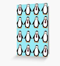 Penguins and tie Greeting Card