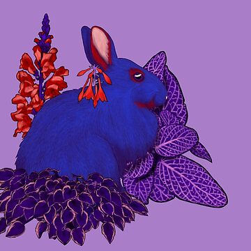 Chinese Zodiac Lucky Colours and Flowers Rabbit by KristalStittle