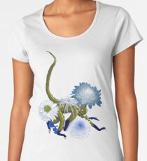Chinese Zodiac Lucky Colours and Flowers Monkey Women's Premium T-Shirt