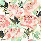 Floral Cranes by spacefrogdesign