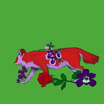 Chinese Zodiac Lucky Colours and Flowers Dog by KristalStittle