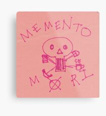Memento Mori Drawing on Post-It  Metal Print