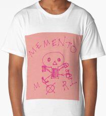 Memento Mori Drawing on Post-It  Long T-Shirt