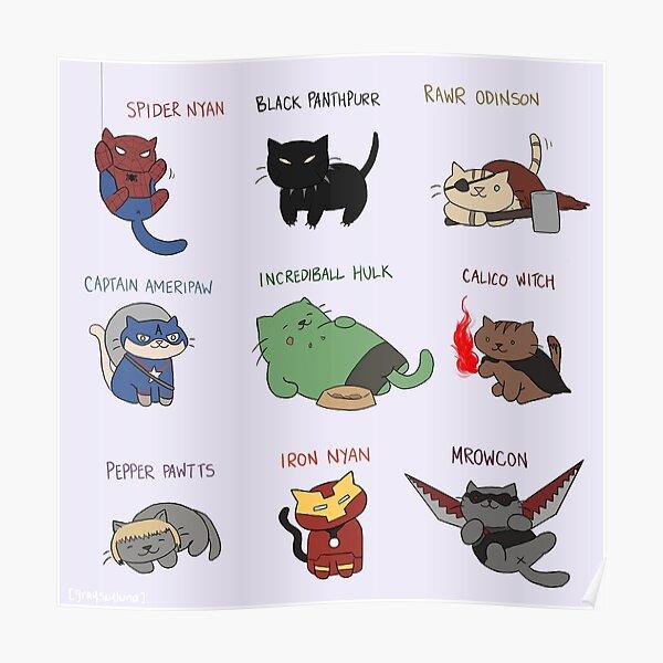 Les Avengepurrs Poster