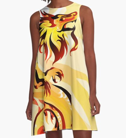 Imperial Dragon A-Line Dress