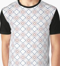 abstract rainbow geometric explode seamless colorful repeat pattern Graphic T-Shirt