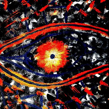 Mankind - Abstract Painting (orange blue design) by kavinski