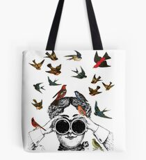 Vintage Birdwatching design for twitchers & ornithologists Tote Bag