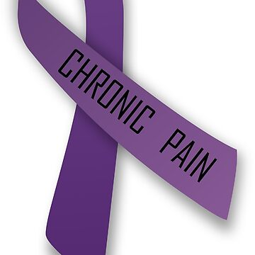 Chronic Pain with Ribbon by abcassent