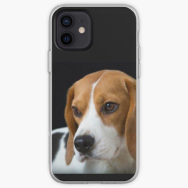 Beagle on the Black iPhone Soft Case