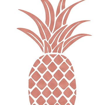 Rose Gold Pineapple  by bombinodesigns