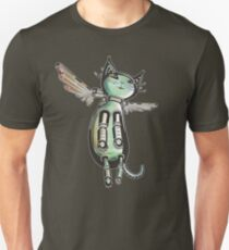 Winged Cat colored version Unisex T-Shirt