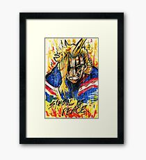 Symbol of Peace (All Might) Framed Print