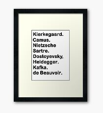 Existentialist Framed Print