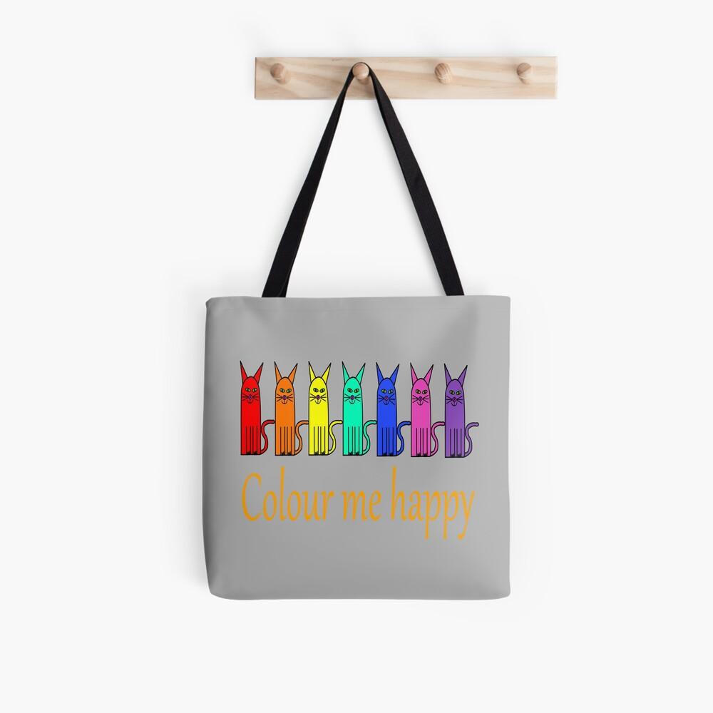 Colour me happy cats Tote Bag