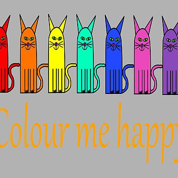 Colour me happy cats by martisanne