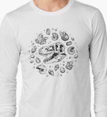 Geo-rex Vortex | Black Long Sleeve T-Shirt