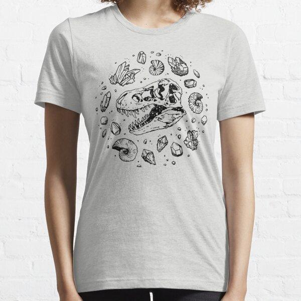 Geo-rex Vortex   Black   Dinosaur Fossil Art Essential T-Shirt