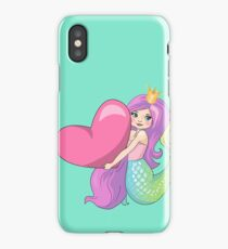 Mermaid Princess With Heart iPhone Case