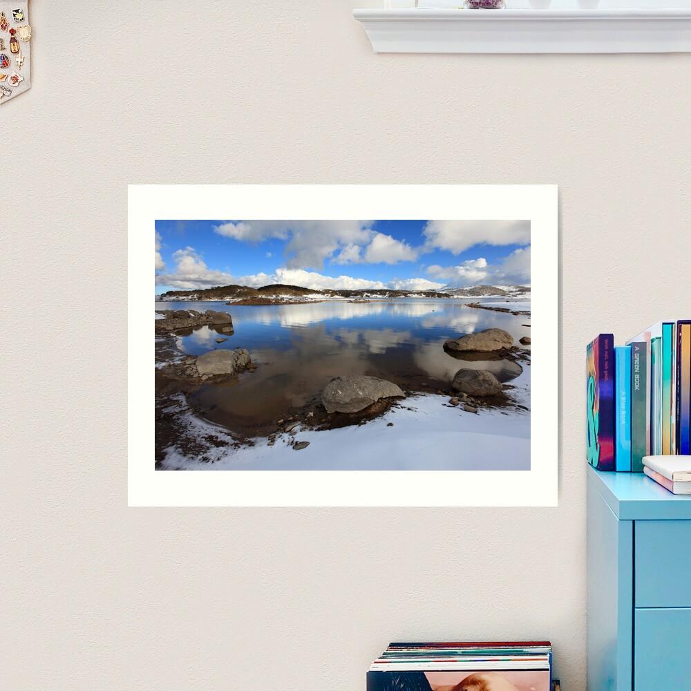 Rocky Valley Pondage, Falls Creek, Australia Art Print