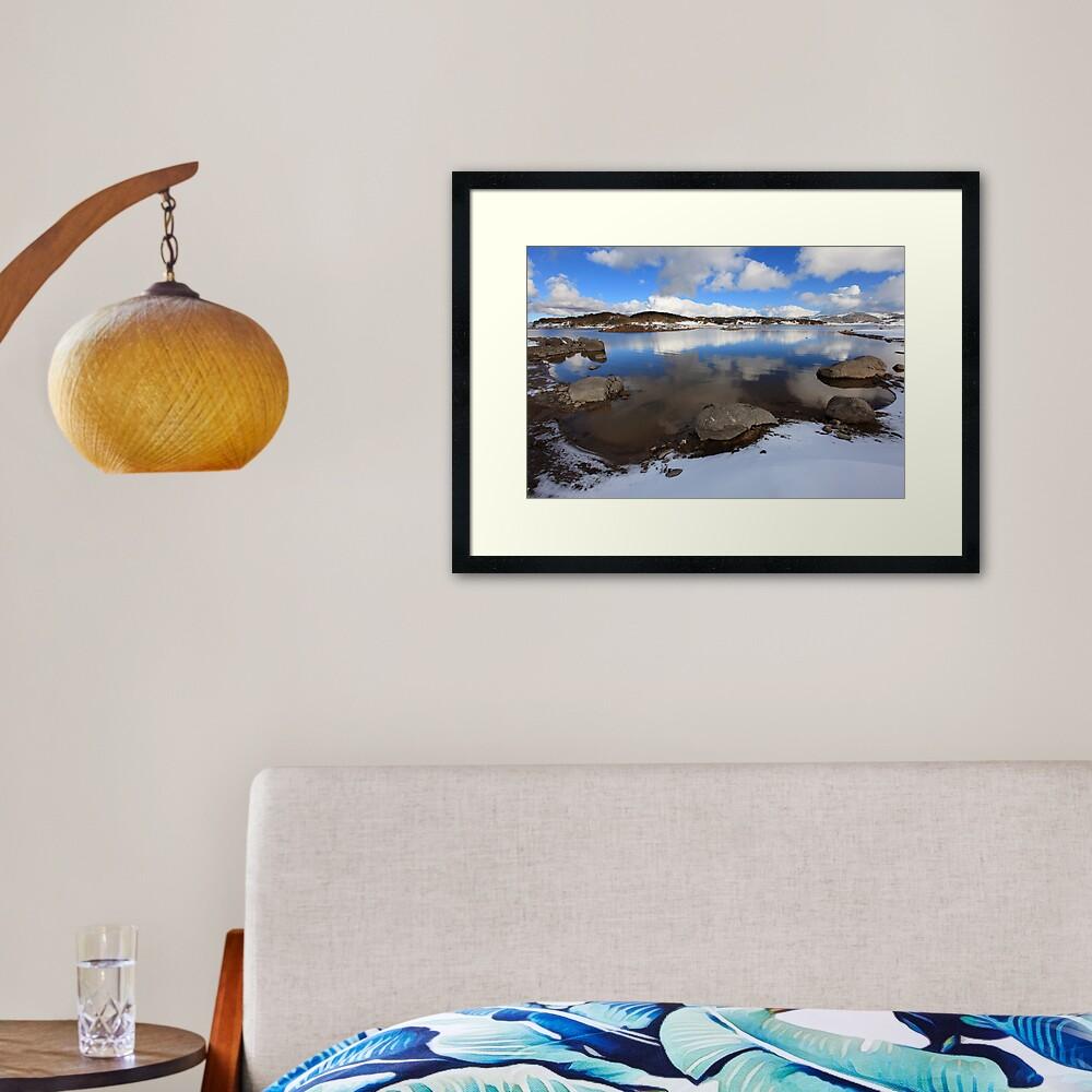 Rocky Valley Pondage, Falls Creek, Australia Framed Art Print