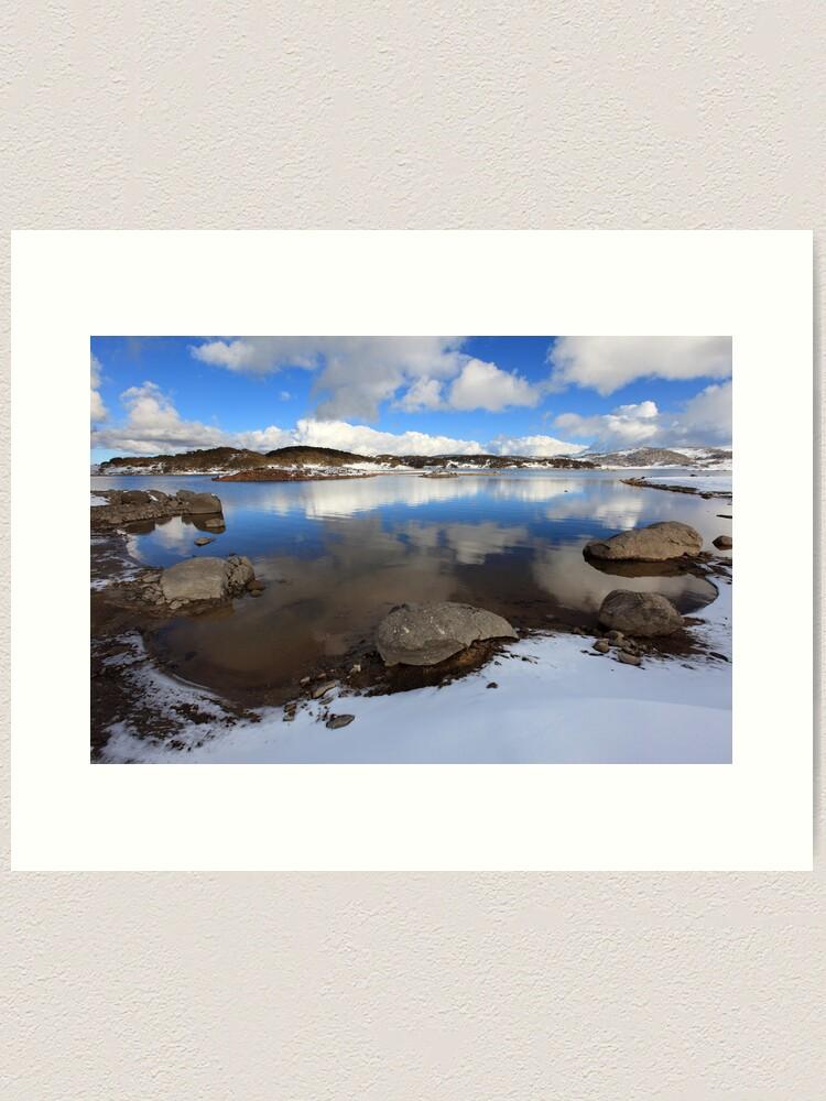Alternate view of Rocky Valley Pondage, Falls Creek, Australia Art Print
