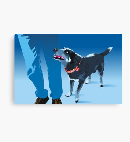 blue heeler Canvas Print