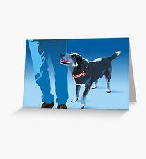 blue heeler Greeting Card