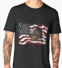 Dinosaur 4th of July T Shirt Independence Day American Flag USA Gift Idea Men's Premium T-Shirt