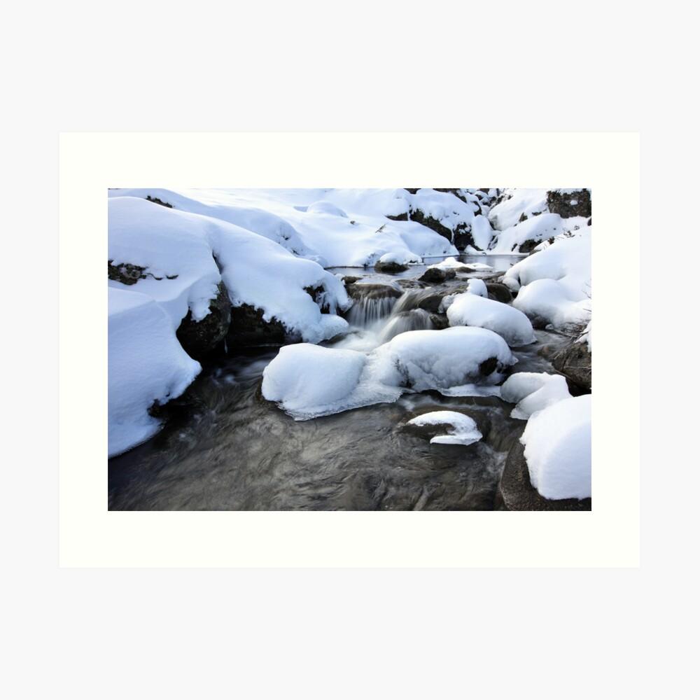Cold Waters, Falls Creek, Australia Art Print