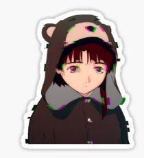 Lain glitch Sticker