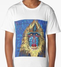 Simian Thoughts by Hergian Flux Long T-Shirt
