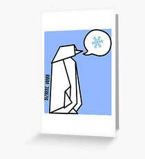 A freezing penguin Greeting Card