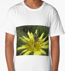 Green Bug on Yellow Flower Long T-Shirt